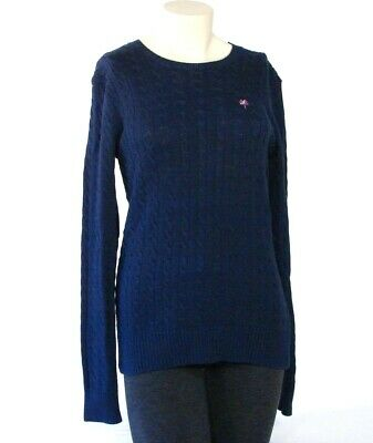 c3cc4c94f4 Lilly Pulitzer Navy Blue Cable Knit Sweater Womens Medium M NWT
