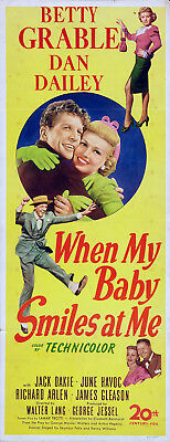 WHEN MY BABY SMILES AT ME 1948 Betty Grable INSERT
