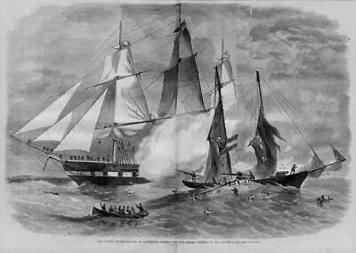 United States Frigate, St. Lawrence, Sailors Rowing
