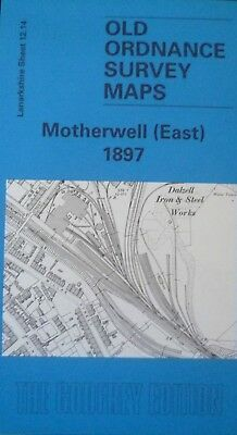Old Ordnance Survey Map Scotland Motherwell East 1897 Godfrey Edition