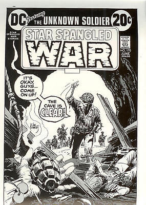 PROGRESSIVE PROOF ART Star Spangled War Stories 170 FOUR-COLOR SEPARATION Kubert