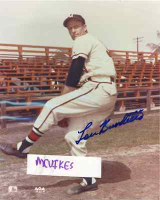 Lew Burdette 1957 Milwaukee Braves Signed 8x10 Photo #1