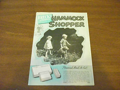 1940s 1950s Hammock Shopper Vintage Catalog Brecks Boston Antique As Seen On TV