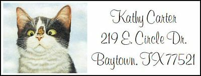 ~CAT WITH BUTTERFLY ON NOSE~ Return Address Labels!