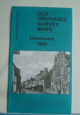 OLD ORDNANCE SURVEY DETAILED MAP LLANDOVERY CARMARTHENSHIRE 1904 Godfrey Edition