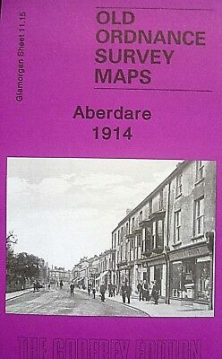 Old Ordnance Survey Map Aberdare Glamorgan  1914 Sheet 11.15 New