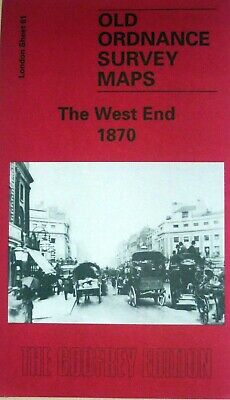 OLD ORDNANCE SURVEY DETAILED  MAPS LONDON THE WEST END 1870 Special Offer Price