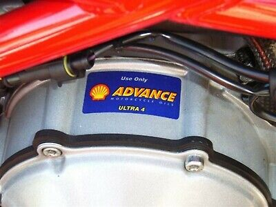 SHELL ADVANCE engine decal/ sticker - Ducati Monster - 749 999