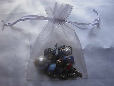 15 Organza Jewellery Gift Bags Pouches White 14x10cm N