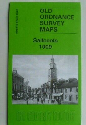 OLD ORDNANCE SURVEY DETAILED MAPS SALTCOATS SCOTLAND 1909 Godfrey Edition