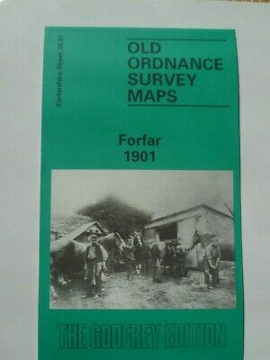 Old Ordnance Survey Detailed Maps Forfar Angus Scotland  1901 Godfrey Edition