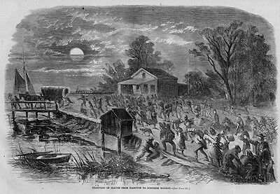 Slaves Stampede From Hampton To Fortress Monroe, Negro