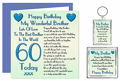 60th Brother Happy Birthday Gift Set