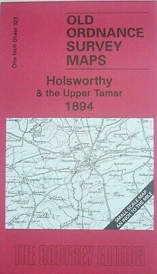 Old Ordnance Survey Detailed Maps Holsworthy  & Upper Tamar 1894 S323