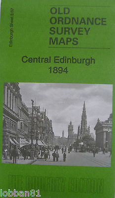 Old Ordnance Survey Maps Central Edinburgh (Princes St) Scotland 1894  3.07 New