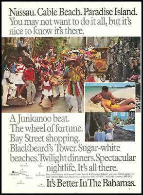 1986 vintage ad for Cable Beach Bahamas