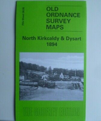 Detailed Old Ordnance Survey Map North Kirkcaldy & Dysart Scotland 1894