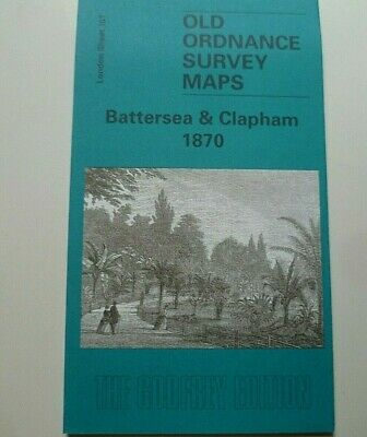 OLD ORDNANCE SURVEY MAPS BATTERSEA & CLAPHAM  LONDON 1870 Godfrey Edition New