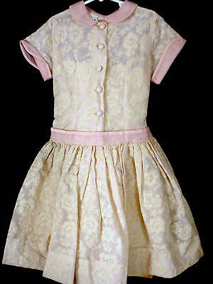 Rare Deadstock 1940's-50's Girls Party Dress Size 7+