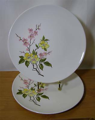 SET OF 2 EDWIN KNOWLES BLOSSOM TIME DINNER PLATES COUPE