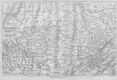 Civil War Map Of Kentucky Louisville, Union, Rebel Camp