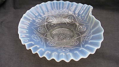 1905 Opalescent Glass Diamond & Daisy Novelty Bowl