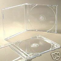 10 Cd 'premium' Jewel Cases Complete With Clear Trays + Free Del