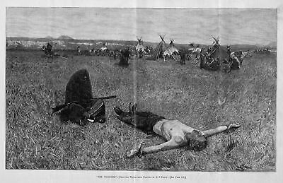 Apache Indians Camp Soldier Prisoner Staked Out Torture Indian Teepee History