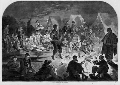 Winslow Homer Civil War Campfire Soldiers Playing Cards
