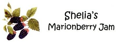 Marionberry Jelly Making Address Labels