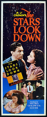STARS LOOK DOWN 1939 Margaret Lockwood INSERT POSTER