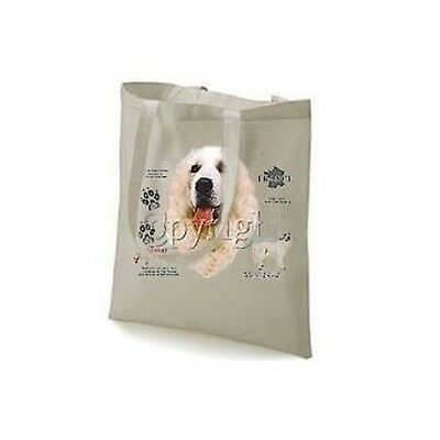 Great Pyrenees Mountain Dog History Printed Tote Bag