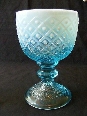 Hob in the Square Blue Opalescent Chalice