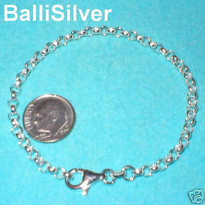 3 St Silver 3.8mm ROUND ROLO Chain STARTER ANKLETS Lot