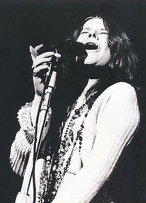 Janis Joplin - 8x10 B&W Photo