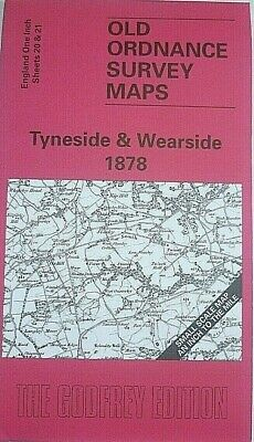 OLD ORDNANCE SURVEY DETAILED MAPS TYNESIDE & WEARSIDE 1878  Special Offer New
