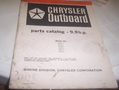 CHRYSLER 1981 9.9hp Outboards Parts Book