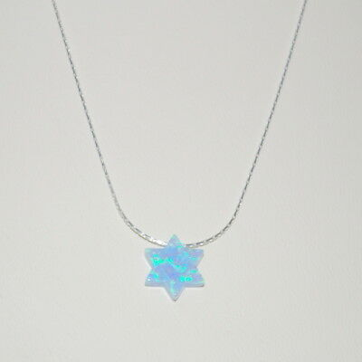 OPAL STAR of DAVID Charm Pendant Sterling Silver CHAIN