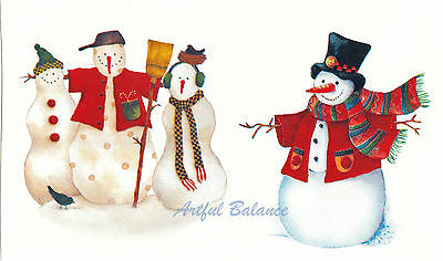 "13390-BC New Design 1 Christmas Winter Snowman 2-1//2 X 1-3//4/"" Ceramic Decals Dx"
