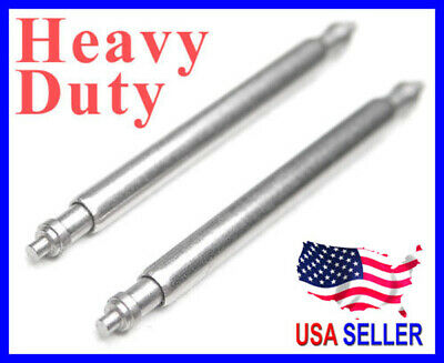 10 Pcs Heavy Duty Stainless Steel Spring Bar Pin for Chronograph Diver watch