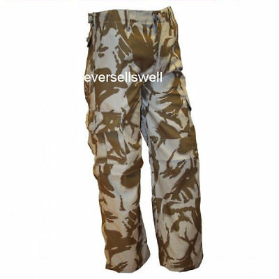 KIDS COMBAT DESERT CAMO TROUSERS water repellent army