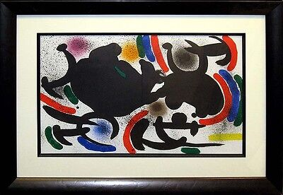 Joan Miro II NoVII 1972 Original Lithograph Custom Gallery Frame SUBMIT AN OFFER