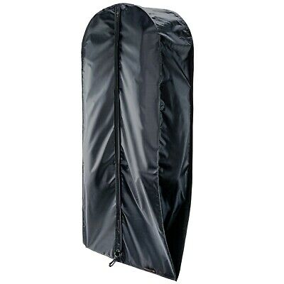 "3 Black 44"" Showerproof Nylon Suit Garment Cover Bags with Gusset Hangerworld"
