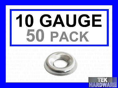 Stainless Steel Cup Washers.. 10 Gauge. M5.  50 Pack