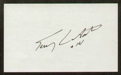 Terry LaBonte signed auto 3x5 index card NASCAR Great