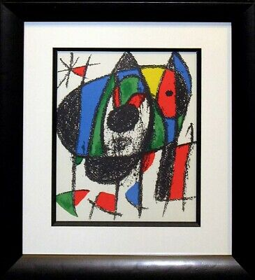 "Miro ""Lithograph II No. V"" 1975 Original Lithograph newly framed Make An Offer!"