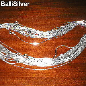 "10 Sterling SILVER 925 Diamond Cut SNAKE 16"" CHAINS Lot"