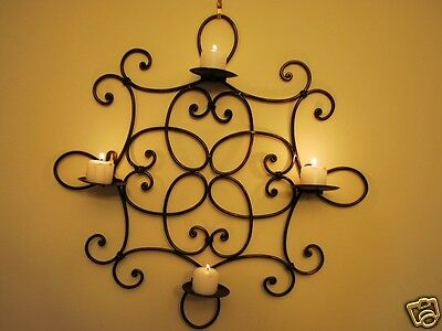 French Style Iron Candle Sconce Holder Wall Decor 50cm