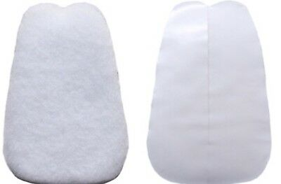 2 Pair 2XL  elephant sized felt TONGUE PADS  for shoes cadillac brand
