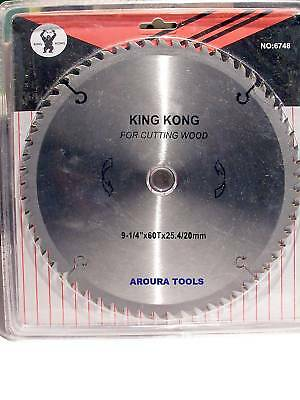 Wood Cutting Saw Blade 9-1/4 Inch - Tungsten Teeth.
